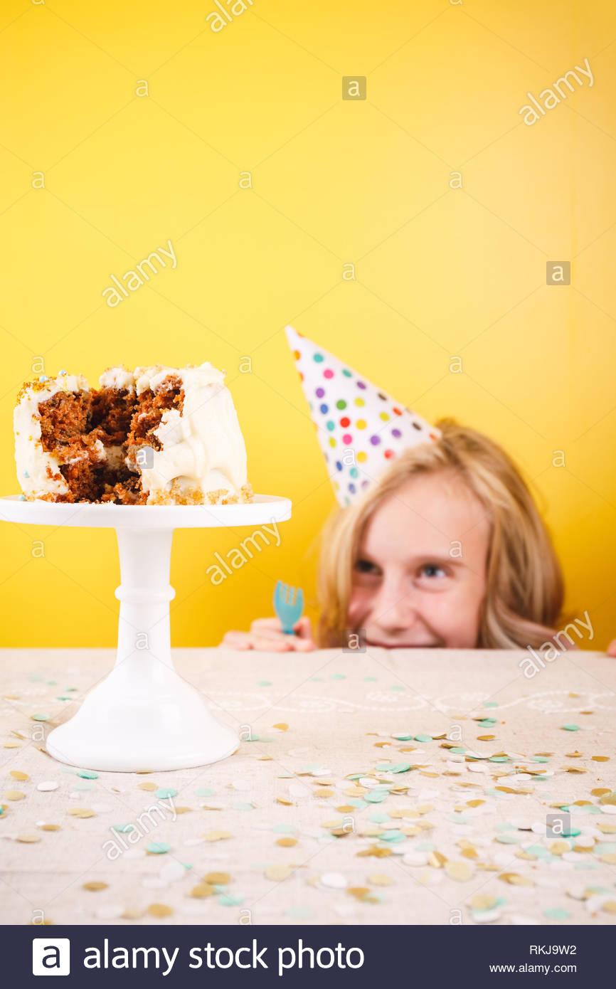 Miraculous Teenage Girl Enjoying Herself After Ruining Birthday Cake One Birthday Cards Printable Opercafe Filternl