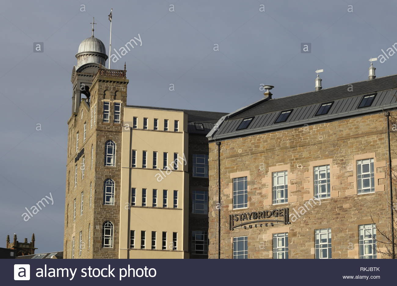 Exterior of Hotel Indigo and Staybridge Suites Dundee Scotland  January 2019 - Stock Image