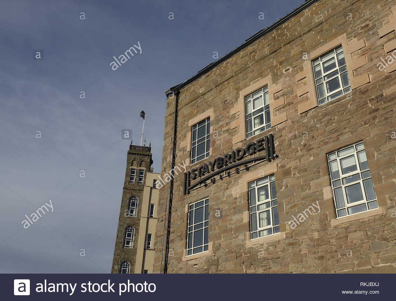 Exterior of Staybridge Suites Dundee Scotland  January 2019 - Stock Image