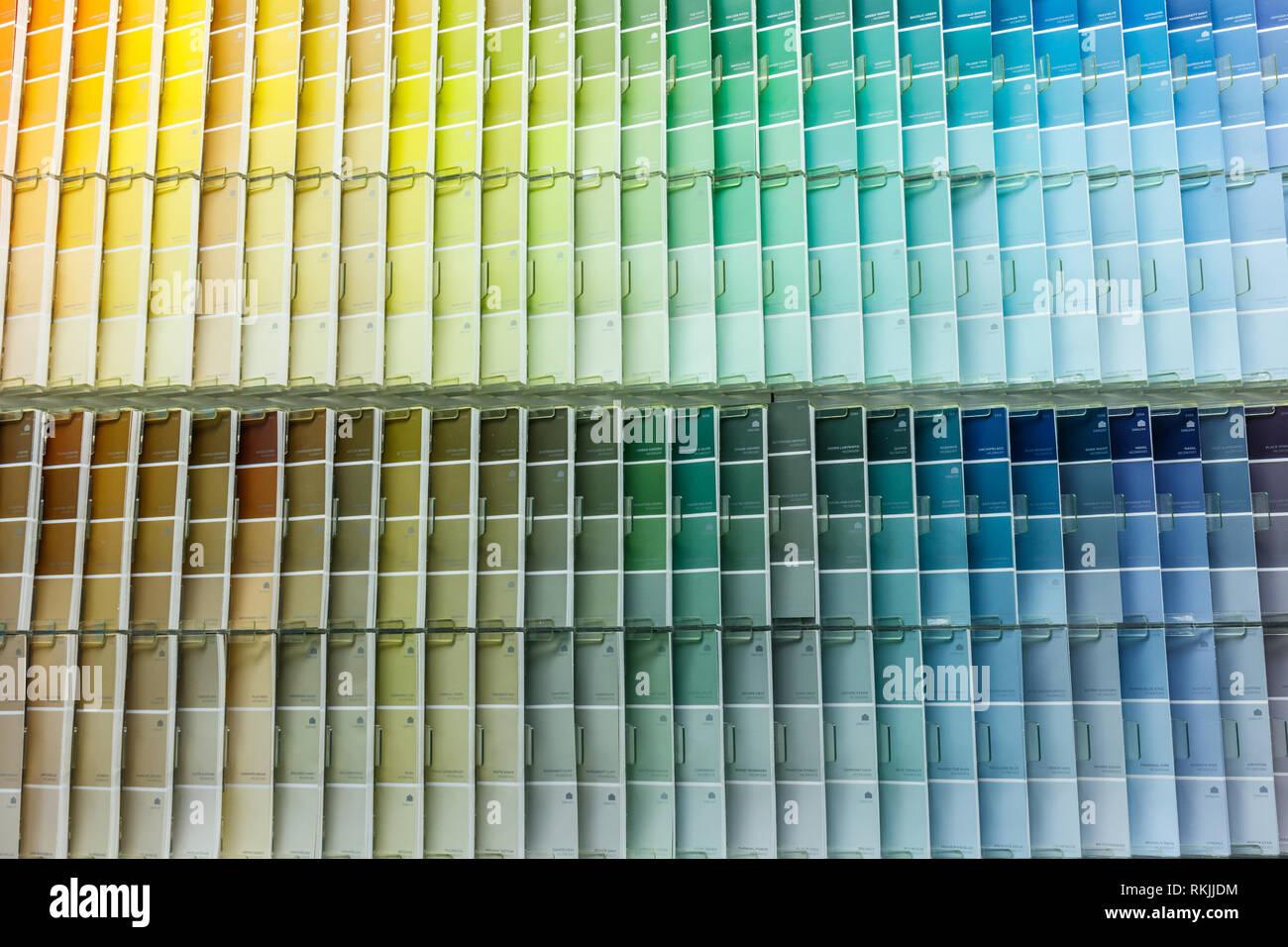 Colour Swatch Paint Stock Photos Colour Swatch Paint Stock Images