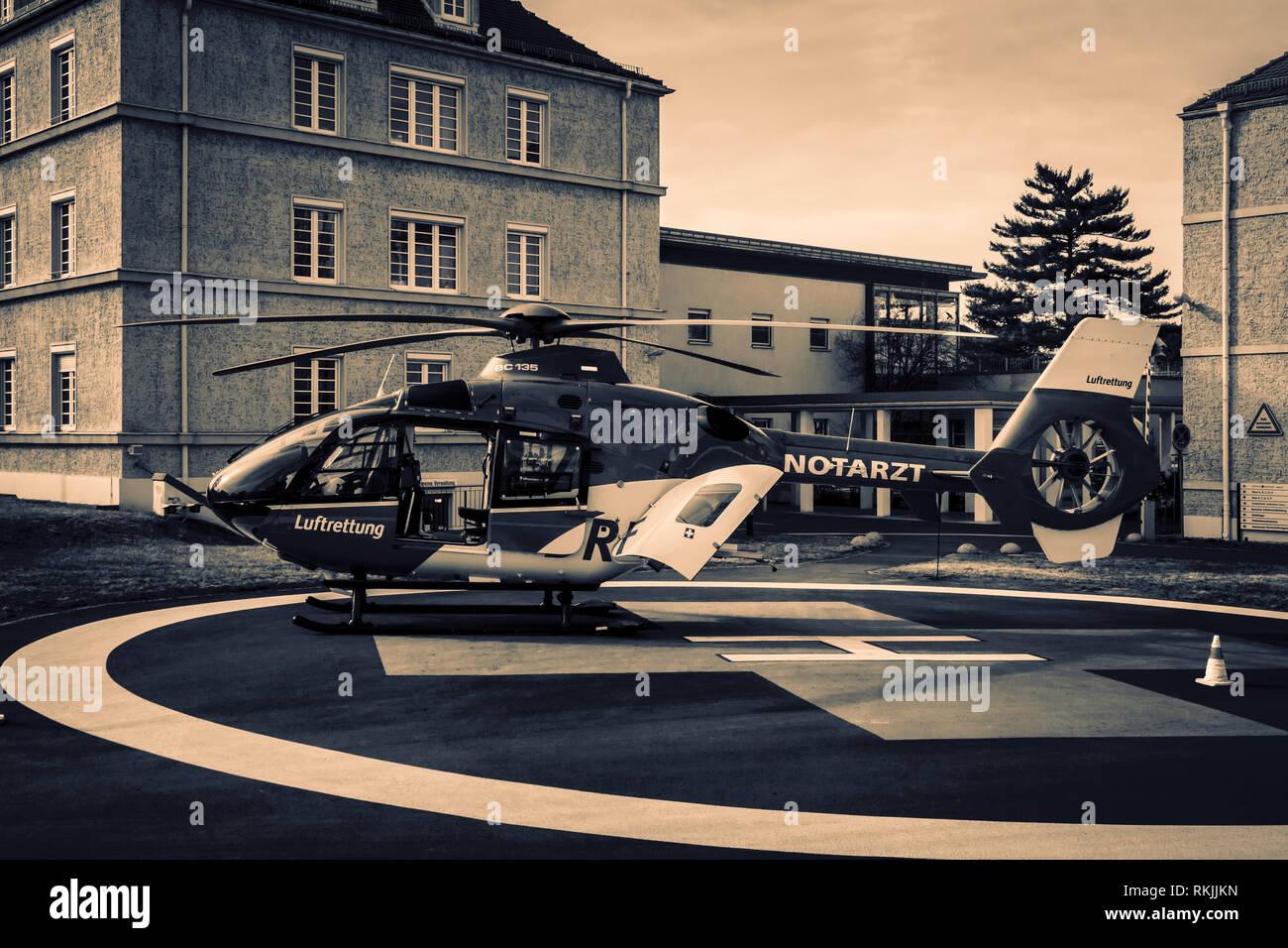 Rescue heli - Stock Image