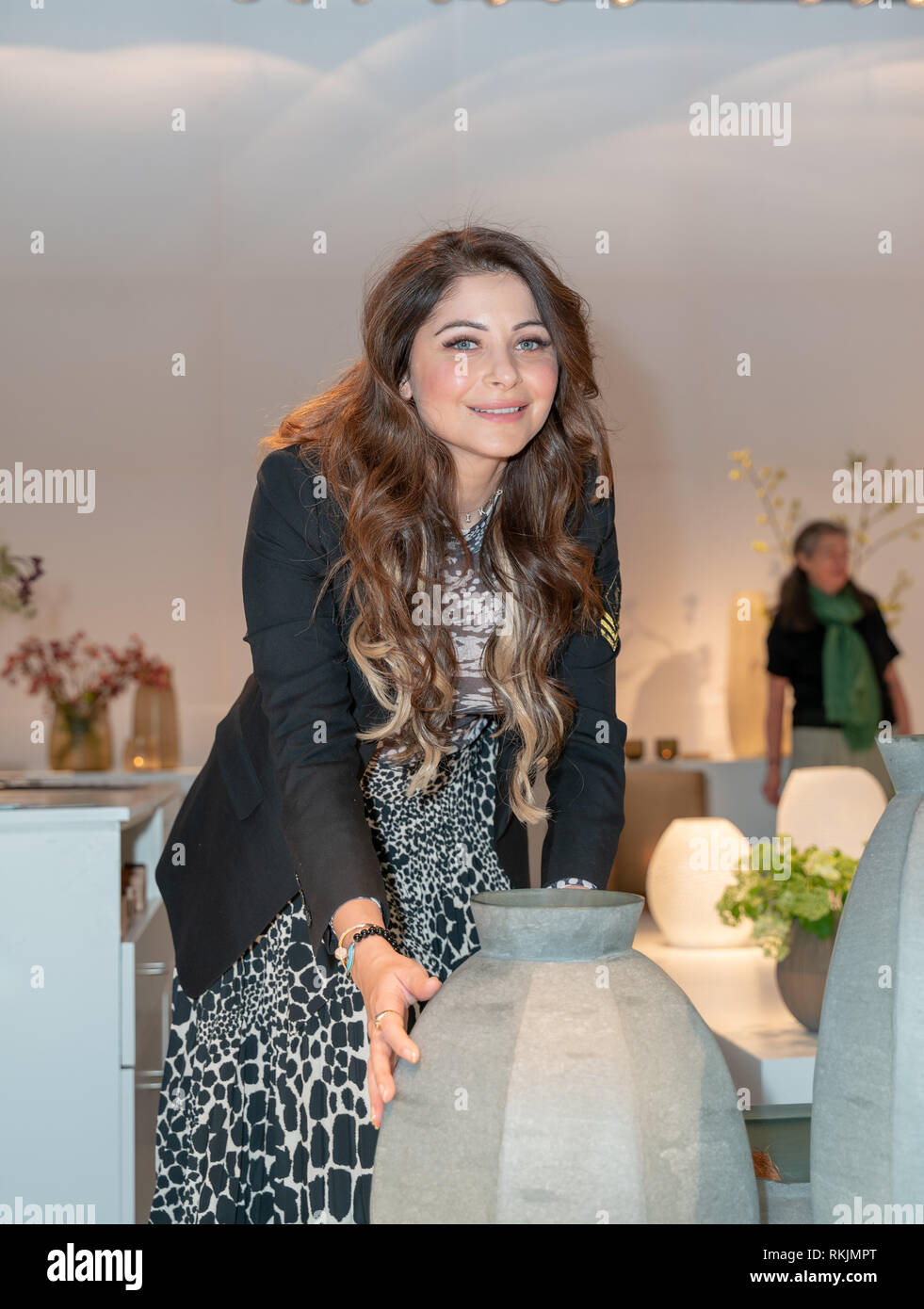 Frankfurt, Germany. 11th Feb, 2019. Kanika Kapoor, singer, bollywood star and The Voice India Coach visits Ambiente trade fair 2019. Ambiente is a leading consumer goods trade fair with more than 4300 exhibitors and 130,000  trade visitors. Credit: Markus Wissmann/Alamy Live News Stock Photo