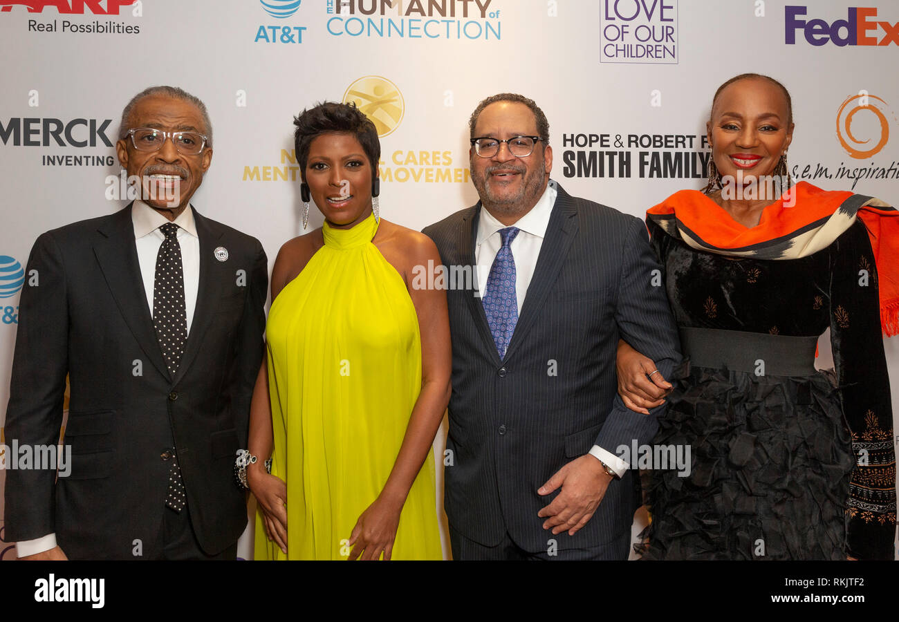 New York, United States. 11th Feb, 2019. New York, NY - February 11, 2019: Al Sharpton, Tamron Hall, Michael Eric Dyson, Susan Taylor attend For the Love of Our Children National CARES Mentoring Movement Gala at Ziegfeld Ballroom Credit: lev radin/Alamy Live News - Stock Image