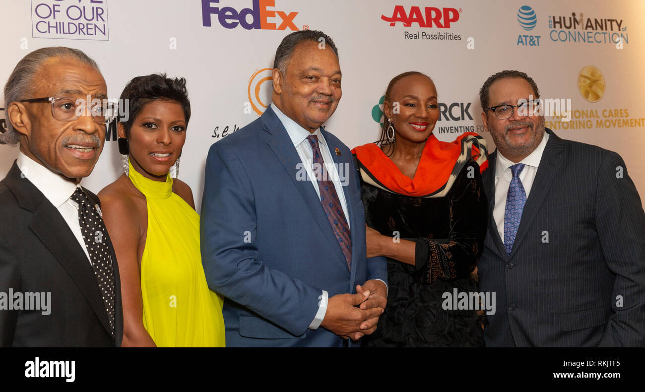 New York, United States. 11th Feb, 2019. New York, NY - February 11, 2019: Al Sharpton, Tamron Hall, Jesse Jackson, Susan Taylor, Michael Eric Dyson attend For the Love of Our Children National CARES Mentoring Movement Gala at Ziegfeld Ballroom Credit: lev radin/Alamy Live News - Stock Image