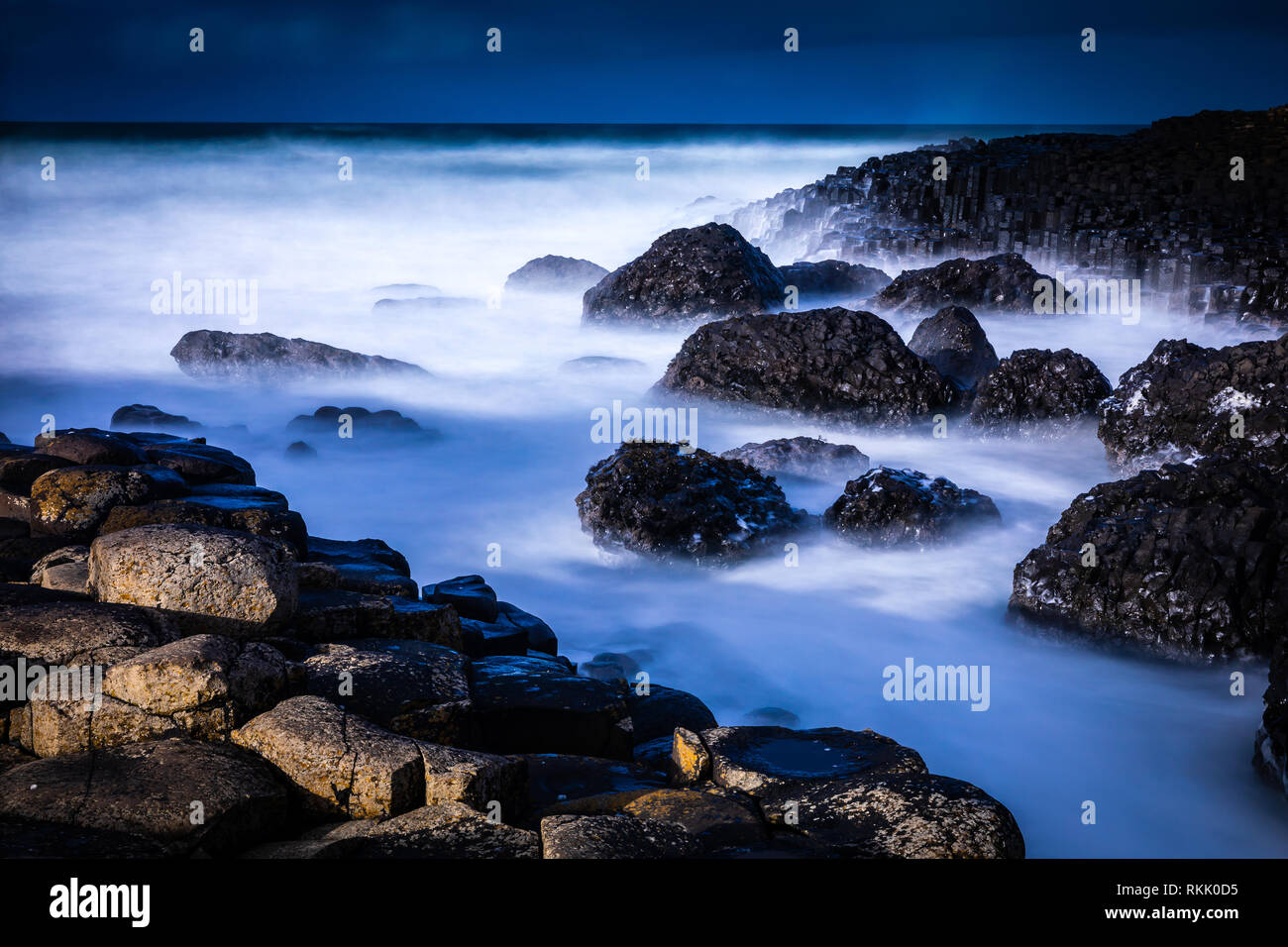 Giant's Causeway, Northern Ireland. 11th Feb 2019. Seasonal Weather pictured at Giant's Causeway, Northern Ireland as a mixed weather forecast is predicted for this week.  The Giant's Causeway is an area of about 40,000 interlocking basalt columns, the result of an ancient volcanic fissure eruption. It is located in County Antrim on the north coast of Northern Ireland, about three miles northeast of the town of Bushmills. Credit: Oliver Dixon/Alamy Live News Stock Photo