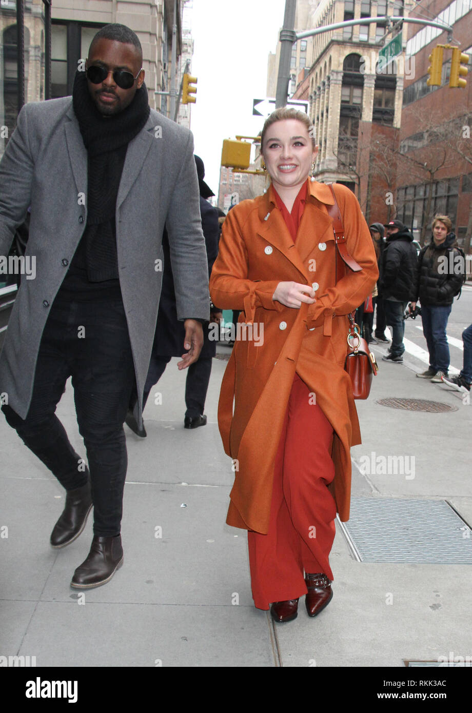 February 11, 2019 Florence Pugh to talk about new movie Fighting with Family in New York February 11, 2019 Credit:RW/Mediapunch - Stock Image