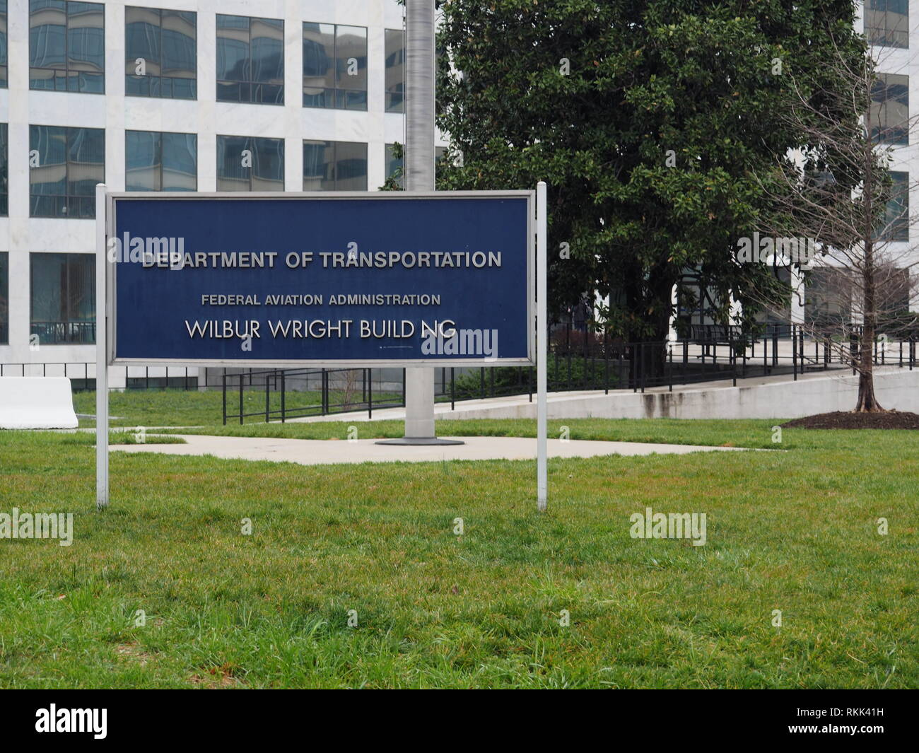 Department of Transportation sign - Washington Dc - USA - Stock Image