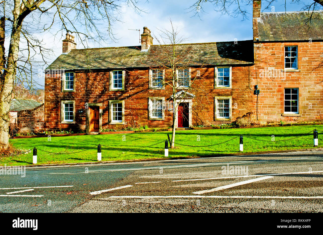 Cottages, Boroughgate, Appleby in Westmorland, Cumbria, England - Stock Image