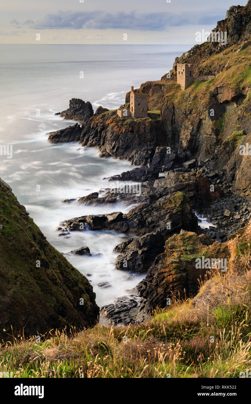 The Crown mines at Botallack captured on a summers evening' - Stock Image