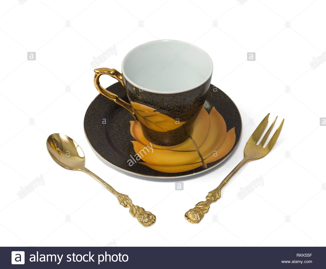 four items in a set for breakfast. - Stock Image