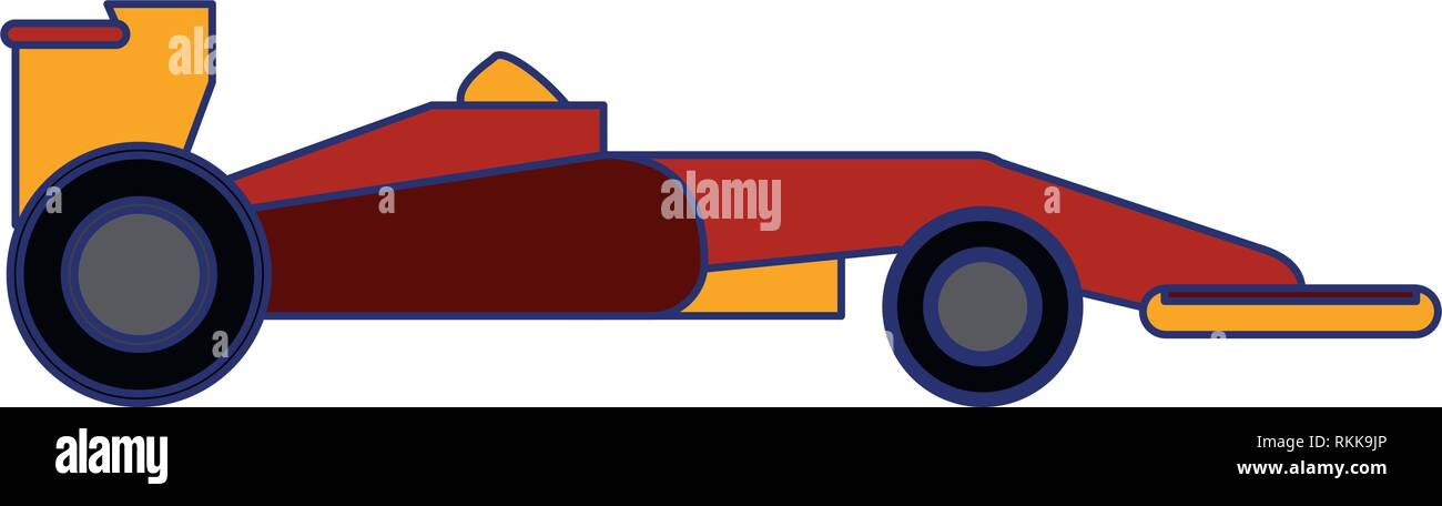 Formula 1 car sideview blue lines - Stock Image