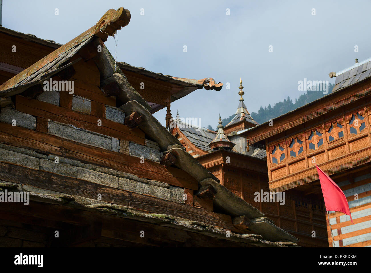 Bhimakali Temple, originally known as Bhimadevi Temple, in Sarahan, Himachal Pradesh. - Stock Image
