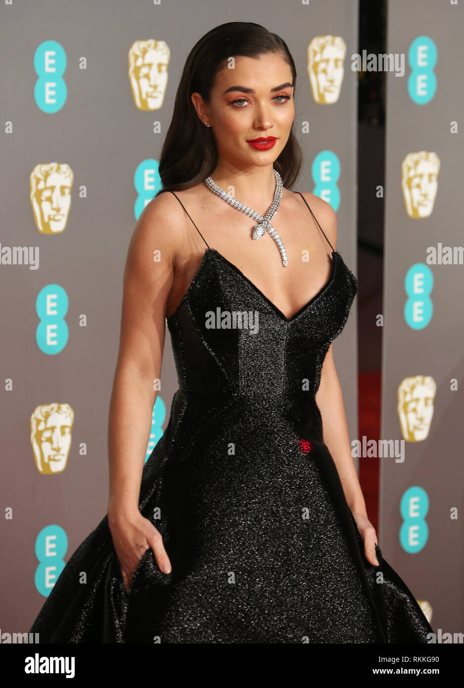 Amy Jackson Seen On The Red Carpet During The British Academy Film Awards 2019 At The Royal Albert Hall In London Stock Photo Alamy