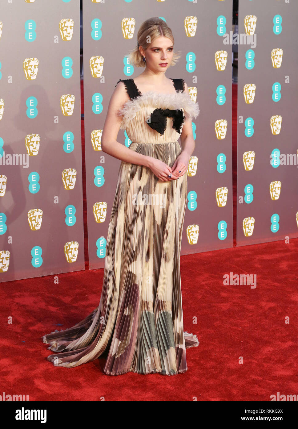 Lucy Boynton Seen On The Red Carpet During The British Academy Film Awards 2019 At The Royal Albert Hall In London Stock Photo Alamy