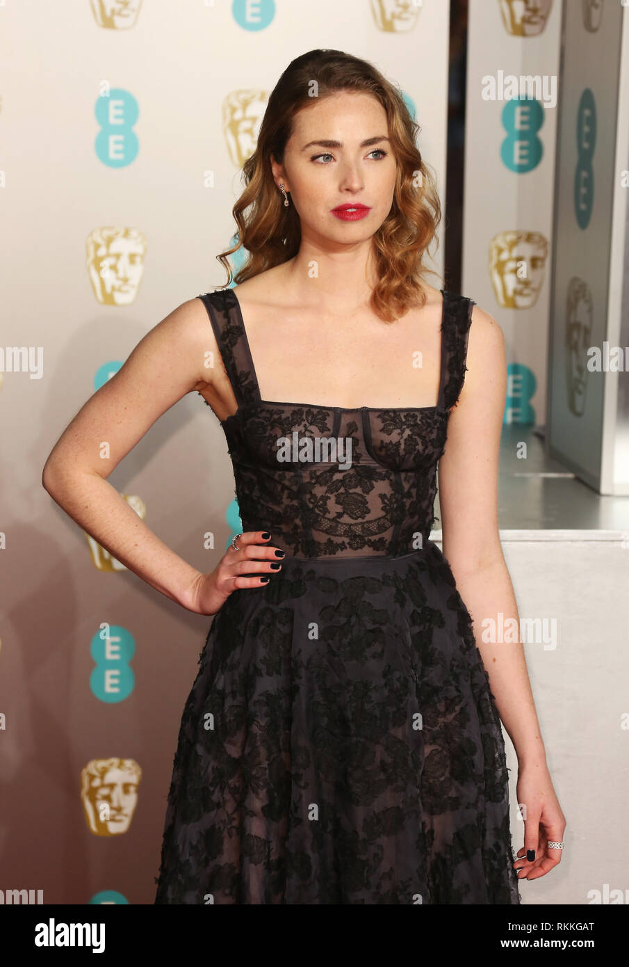 Freya Mavor Seen On The Red Carpet During The British Academy Film Awards 2019 At The Royal Albert Hall In London Stock Photo Alamy
