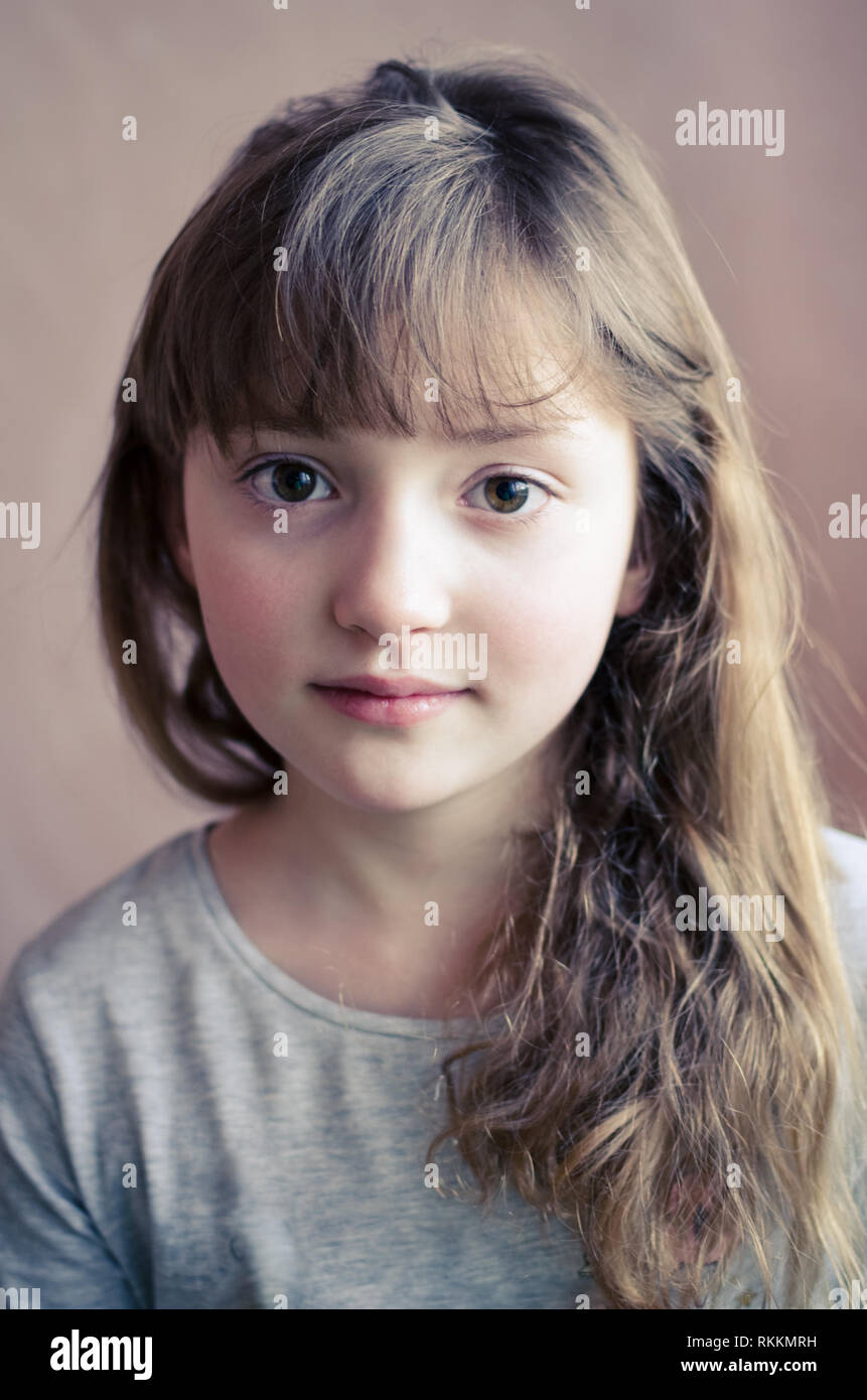 Portrait Of Little Pretty Girl With Cute Smile Beautiful Girl