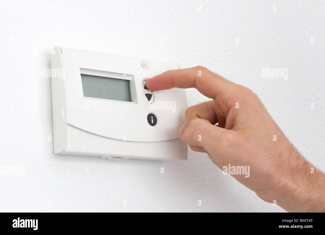 Freezing Temperature Thermostat Stock Photos & Freezing