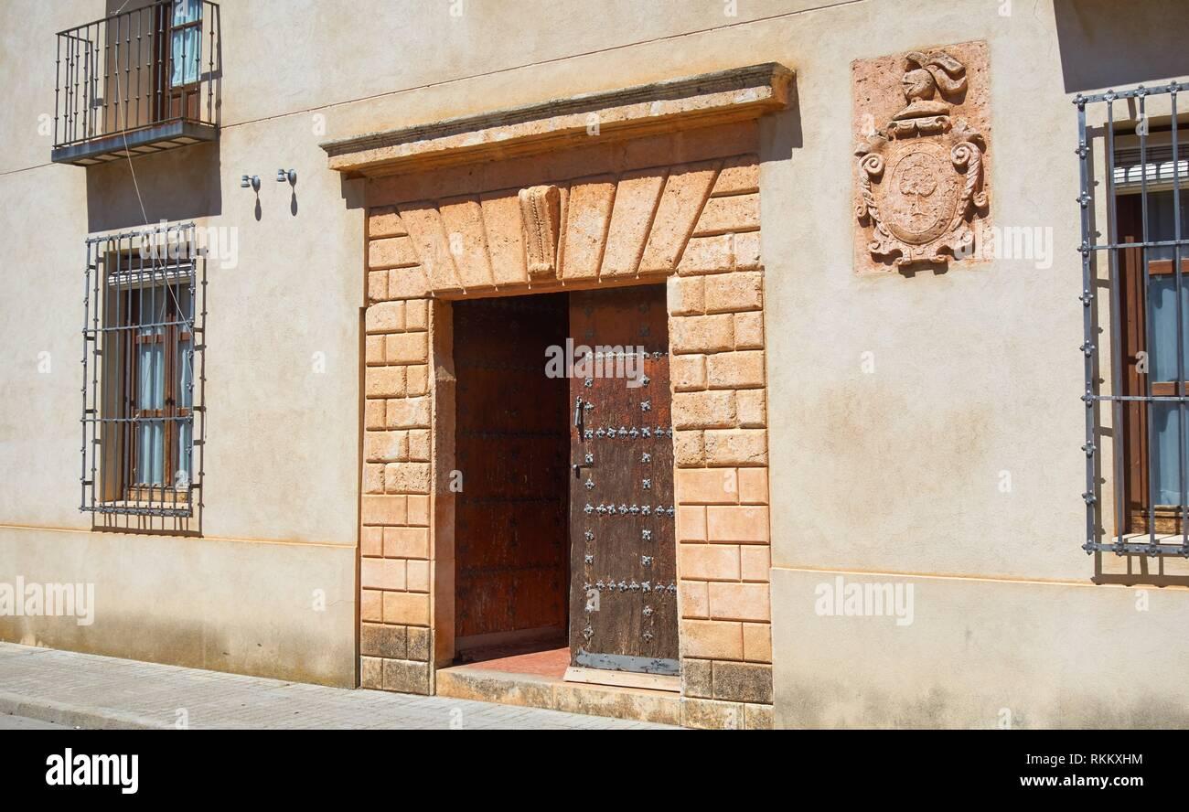 San Clemente village in Cuenca at Castile La Mancha by Saint James Way of levante. Stock Photo