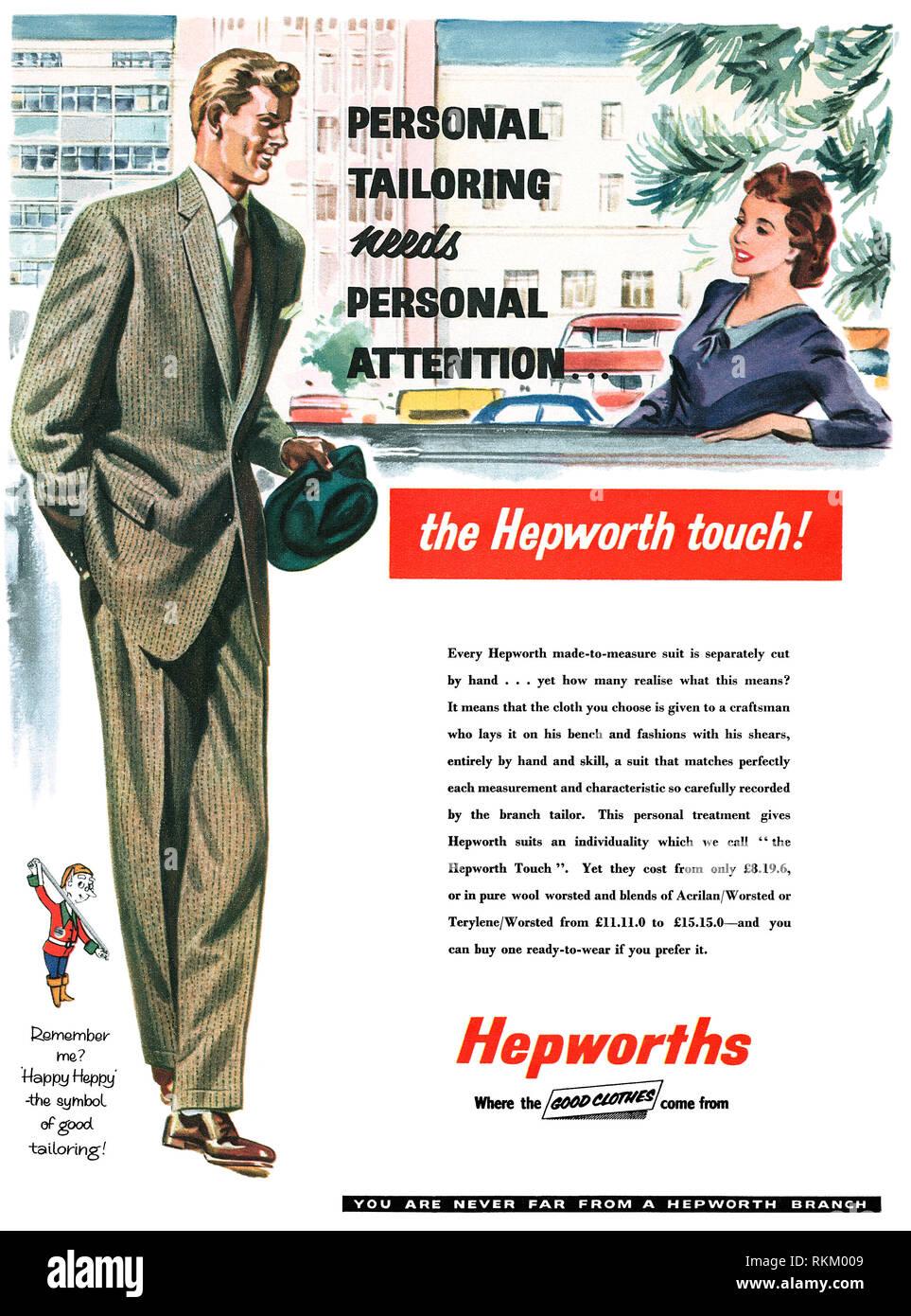 Vintage Mens Suit Advertisement Stock Photos Vintage Mens Suit