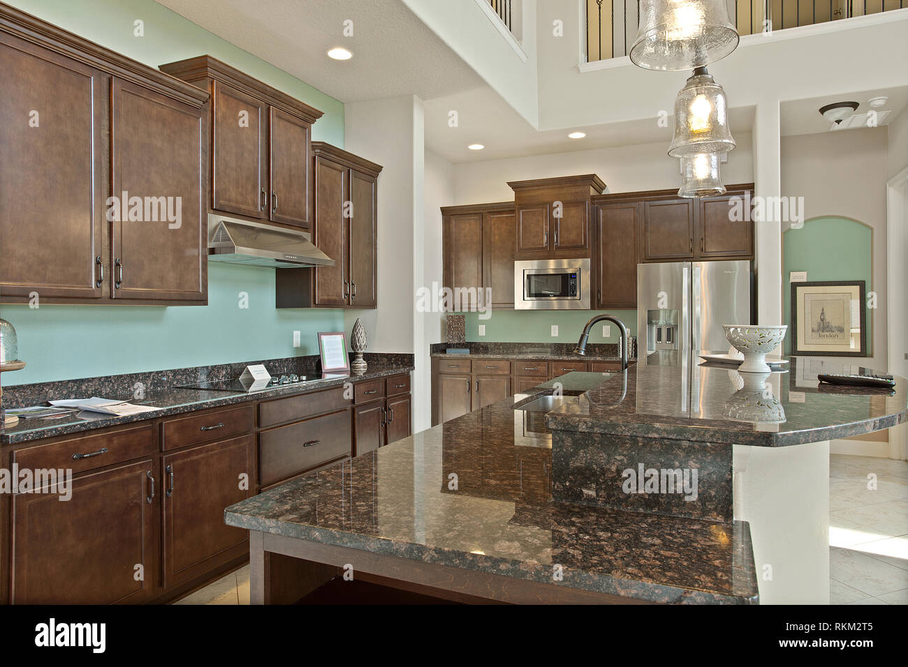 Modern Kitchen Home Interior With Hardwood And Wooden