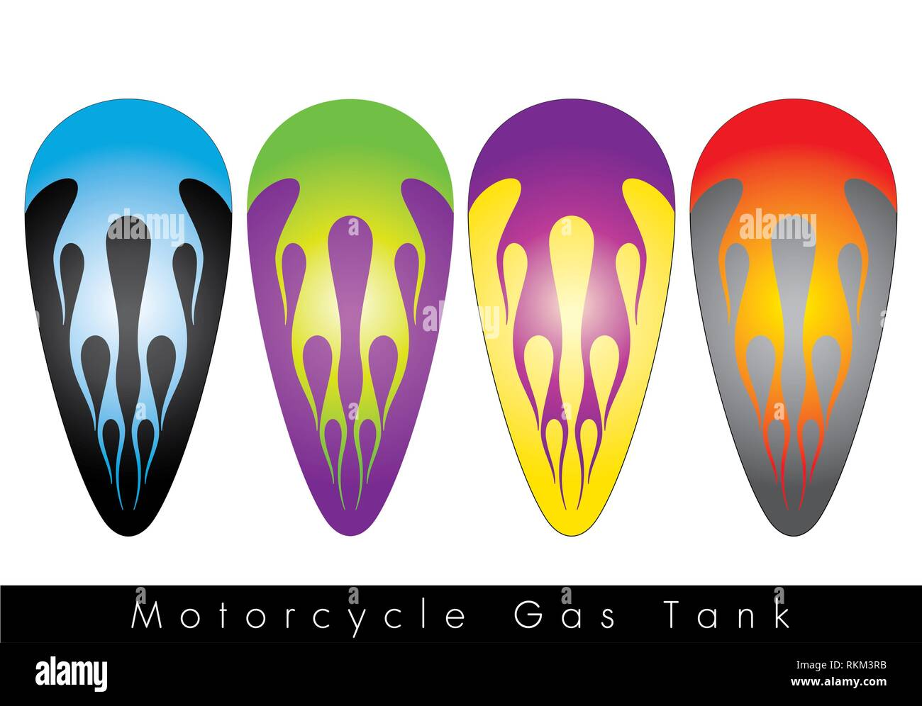Custom Paint Design Motorcycle High Resolution Stock Photography And Images Alamy