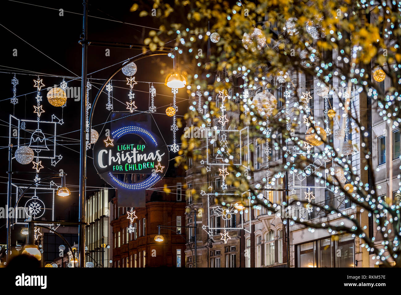 London At Christmas Time.Oxford Street In Christmas Time London Uk Stock Photo