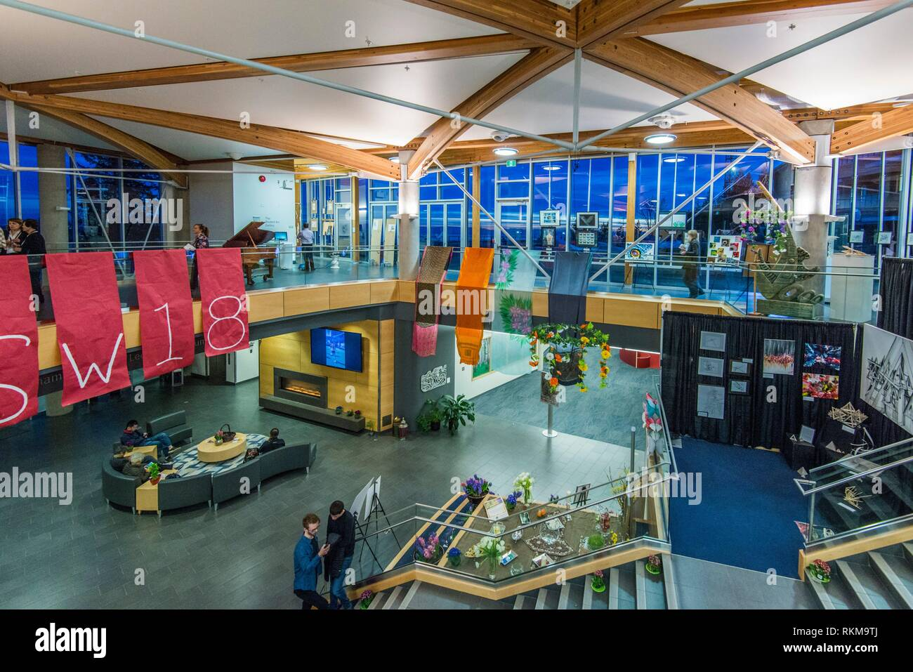 Interior Lobby Of A School In West Vancouver Bc Canada Stock Photo Alamy