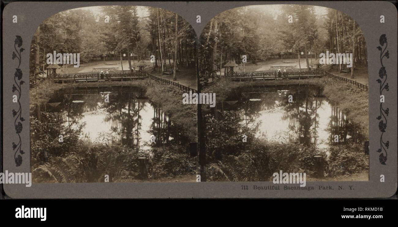 Beautiful Sacandaga Park, N.Y. Robert N. Dennis collection of stereoscopic views United States States New York Stereoscopic views of the Capitol - Stock Image