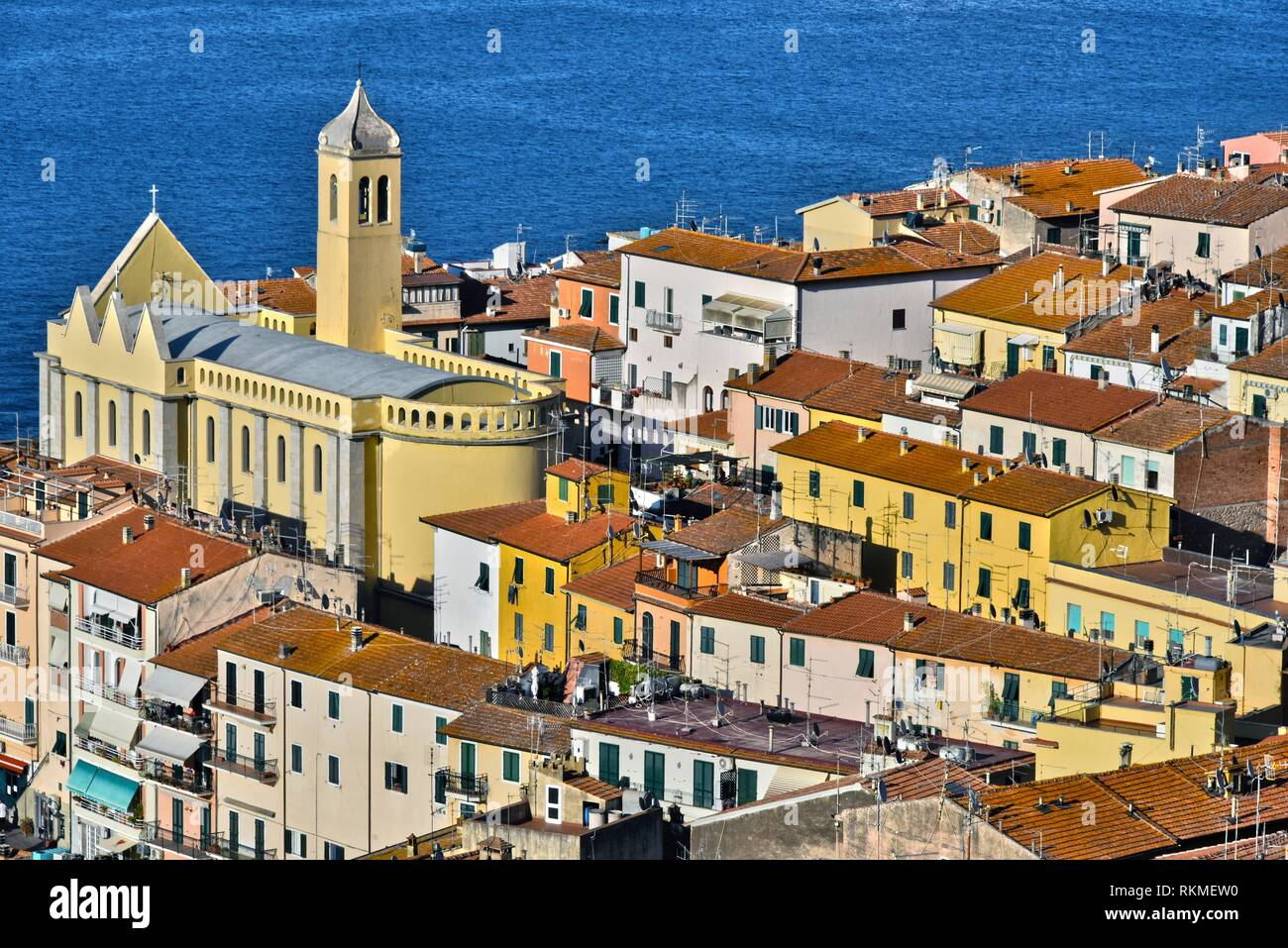 City of Porto Santo Stefano in the Province of Grosseto, Tuscany, Italy. - Stock Image
