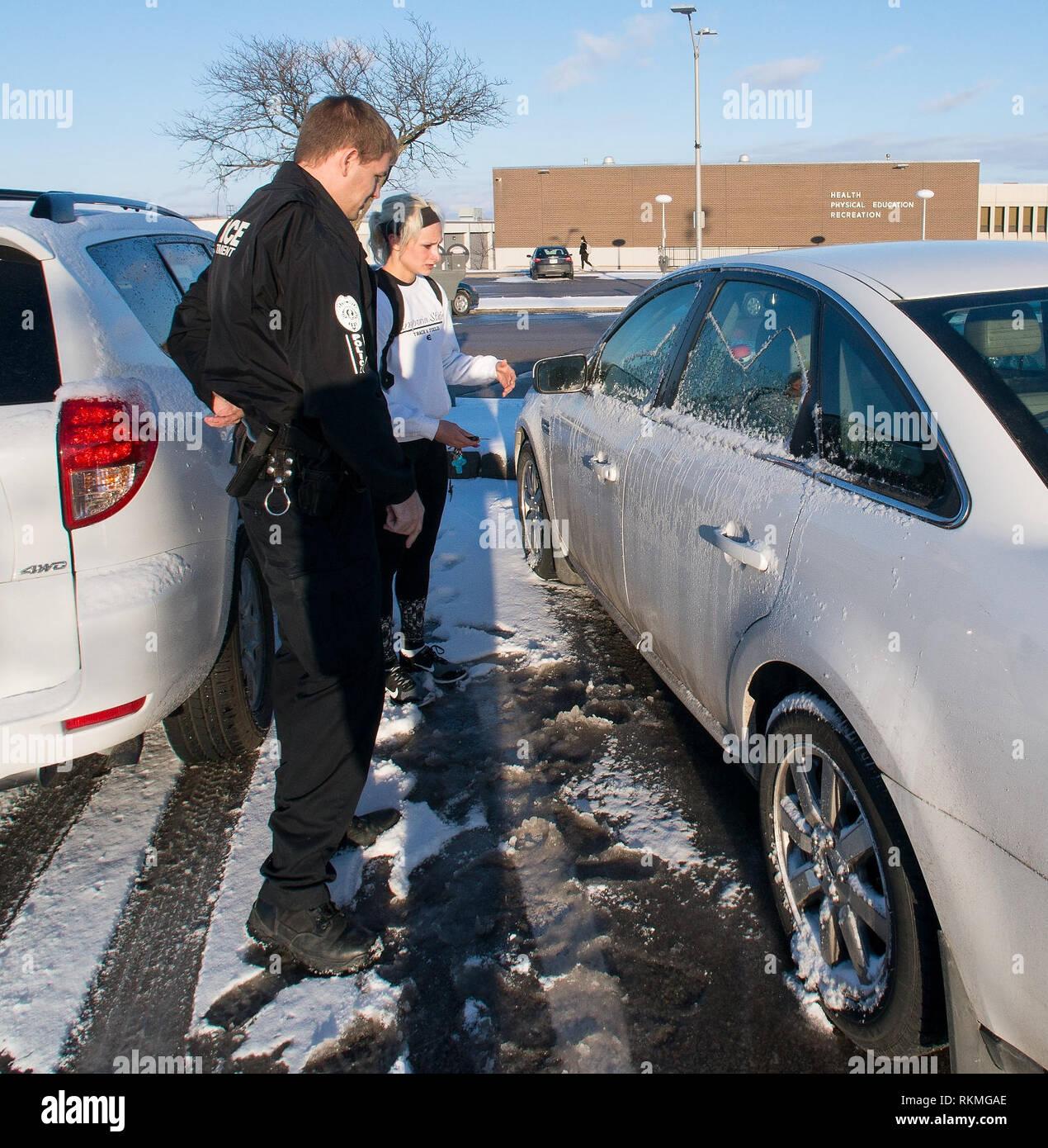 Emporia, Kansas USA, February 17, 2015 5:14pm Officer