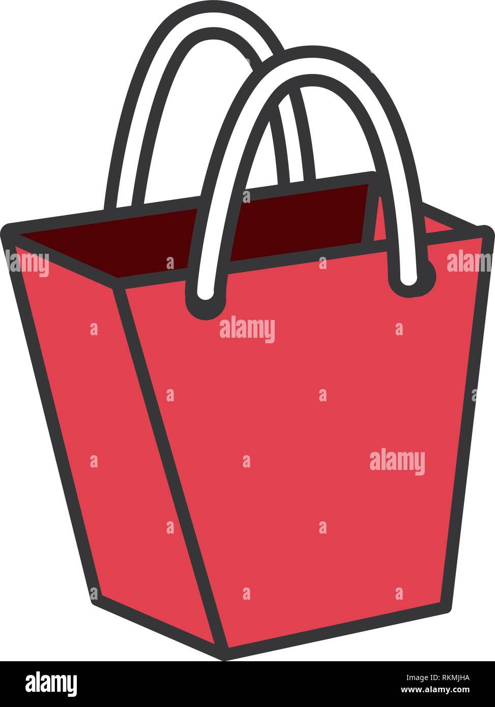 4e9a255c82 shopping bag isolated icon vector illustration design - Stock Vector