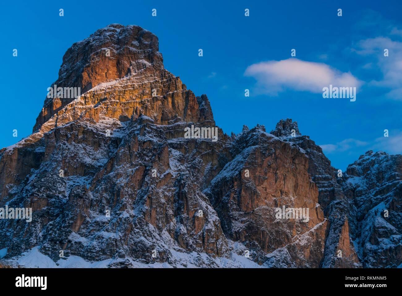 Sasshonger Mountain, Corvara in Badia, Bolzano Province, Dolomites, Italy, Europe. - Stock Image