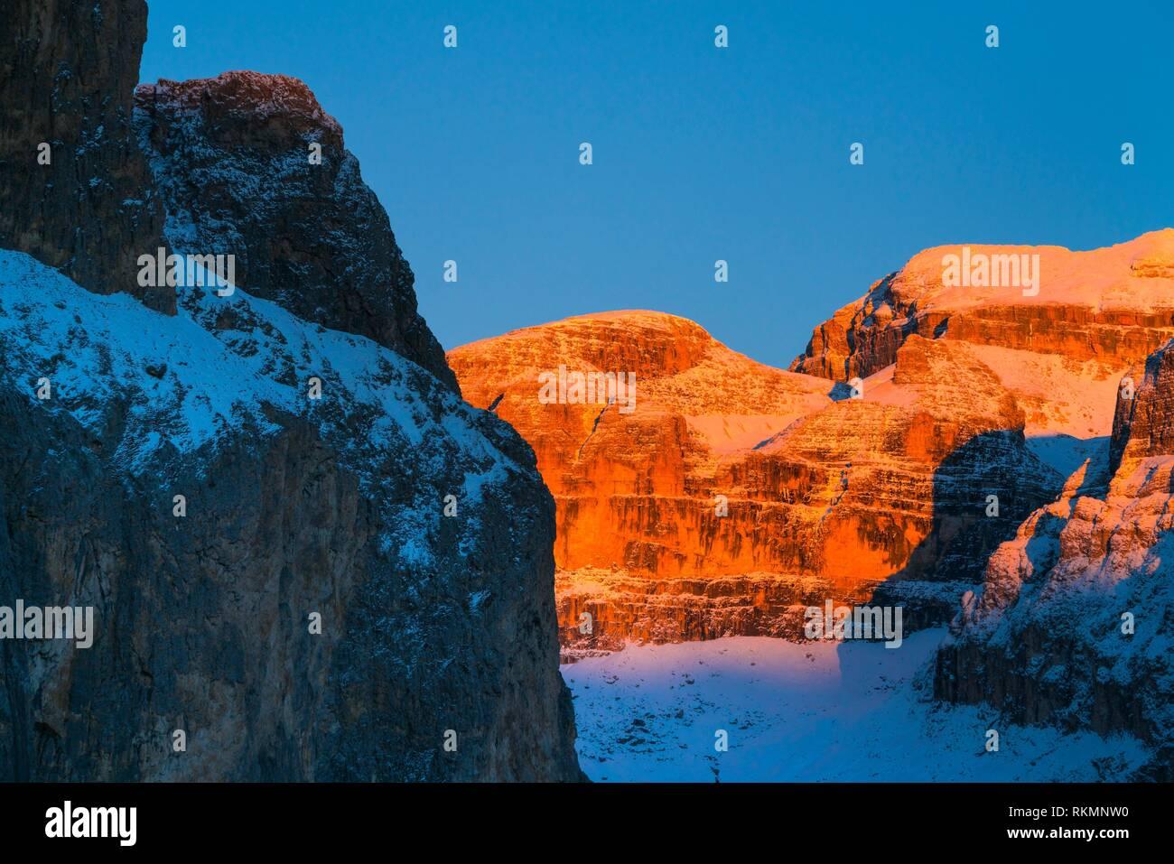 Sella Pass, Dolomites, Unesco World Heritage Site, Italy, Europe. - Stock Image