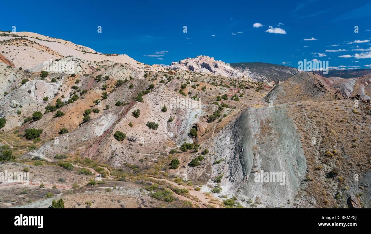 Landscape, Dinosaur National Monument, Utah, Usa, America. - Stock Image