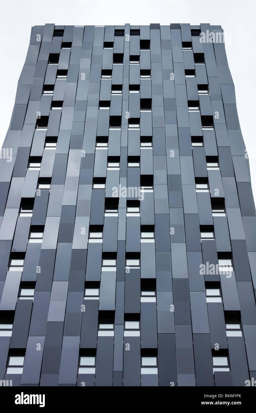 BILBAO PASSIVHAUS TOWER, The highest passive residential building in the world, Bolueta, Bilbao, Bizkaia, Basque Country, Spain, Europe. - Stock Image