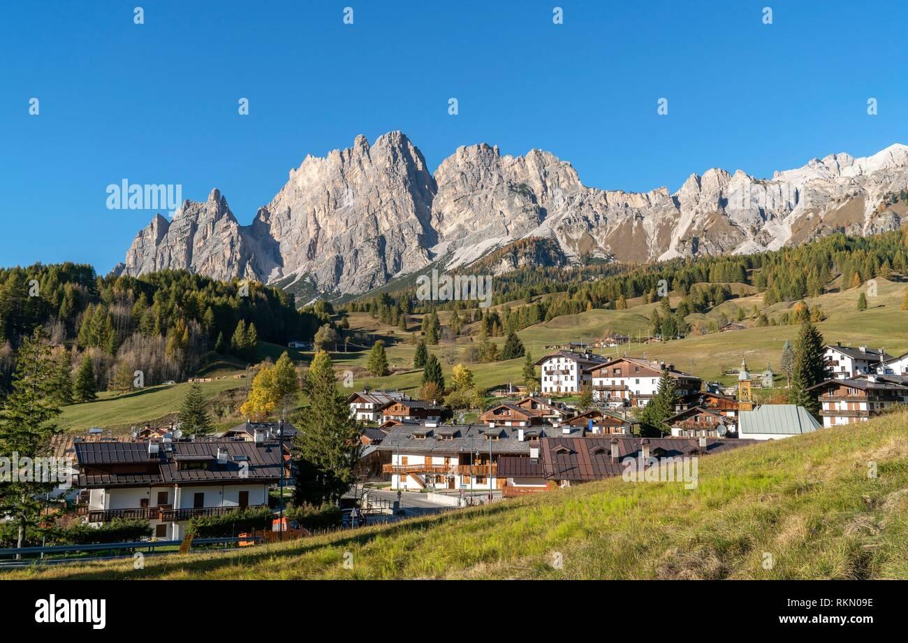Italy. Alps. Dolomites. Cortina D' Ampezzo. - Stock Image