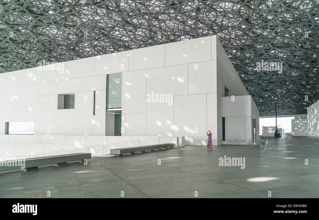 Abu Dhabi, United Arab Emirates. The Louvre Museum of Abu Dhabi. - Stock Image