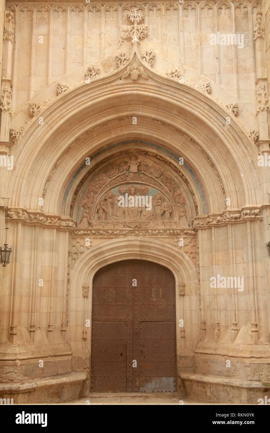 Door of Forgiveness in the church of Santa María de los Sagrados Corporales in Daroca. Zaragoza. Aragon. Spain - Stock Image