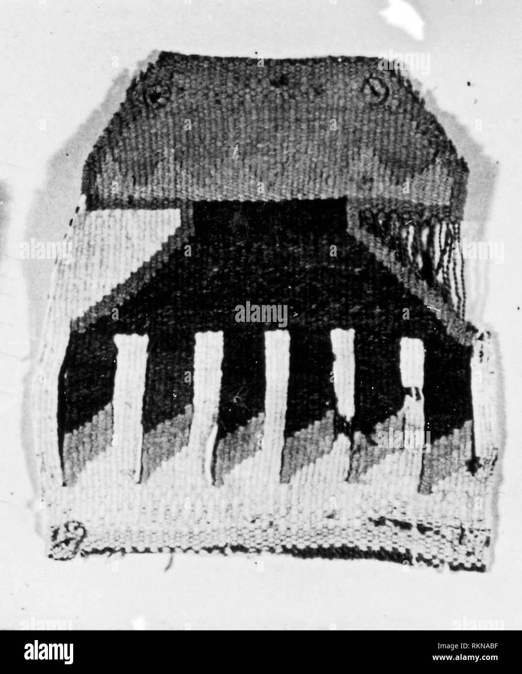 Patch - A.D. 1000/1476 - Lambayeque Probably north coast, Peru - Artist: Lambayeque, Origin: Peru, Date: 1000–1476, Medium: Slit tapestry, simple - Stock Image