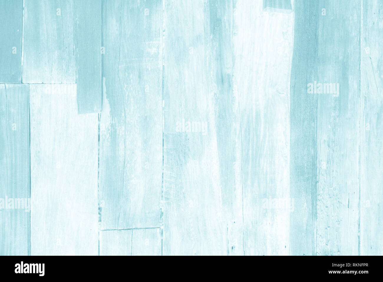 Wooden plank blue wood all antique cracked furniture weathered white vintage wallpaper texture background. Stock Photo