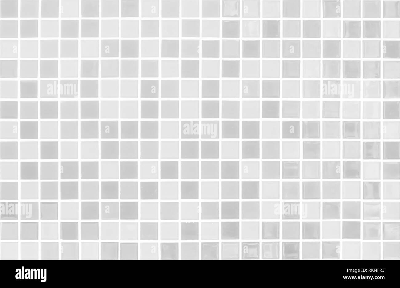White and Grey the tile wall high resolution real photo or brick seamless and texture interior background. - Stock Image
