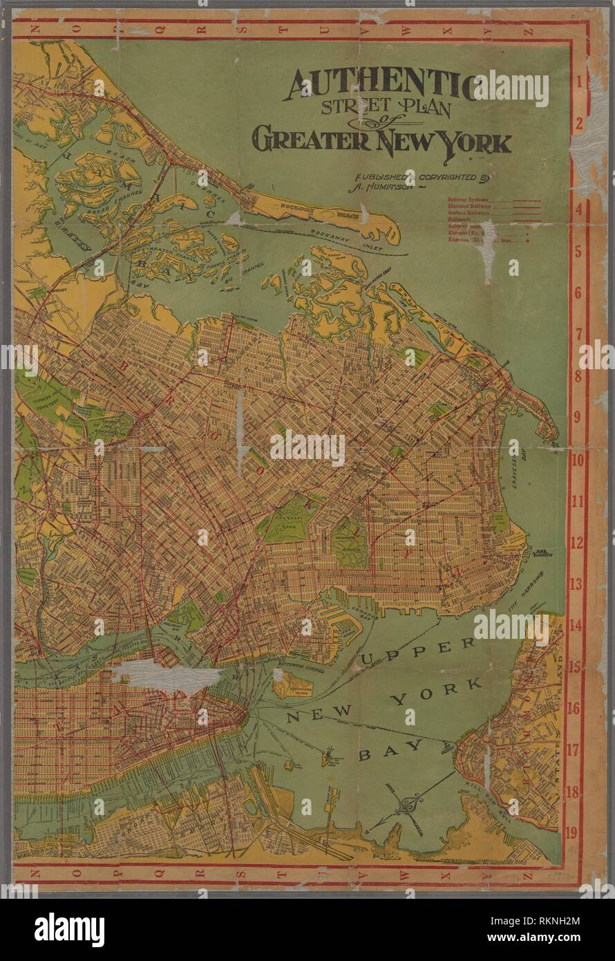 Map Of Greater New York City Area.Authentic Street Plan Of Greater New York Maps Of New York City And