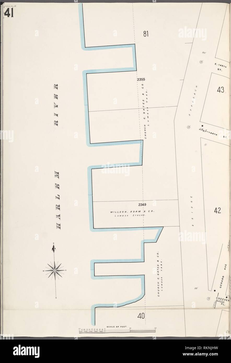 Bronx, V. 9, Plate No. 41 [Map bounded by Harlem River ... on sanborn insurance maps, sanborn maps chicago, sanborn fire company, sanborn fire maps,