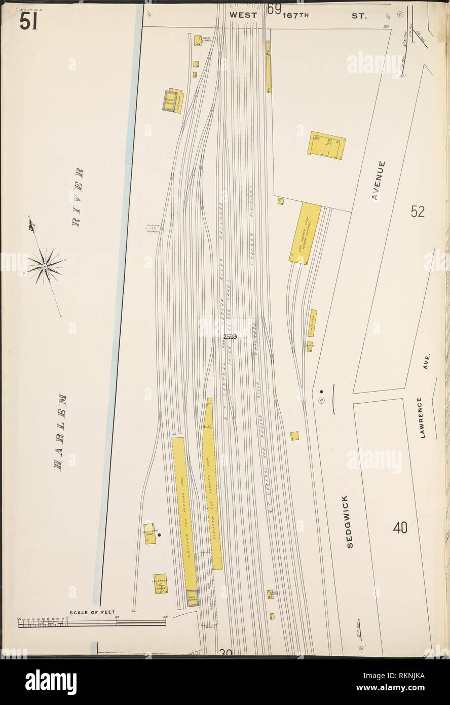 Map Of New York Harlem.Bronx V 10 Plate No 51 Map Bounded By Harlem River W 167th St