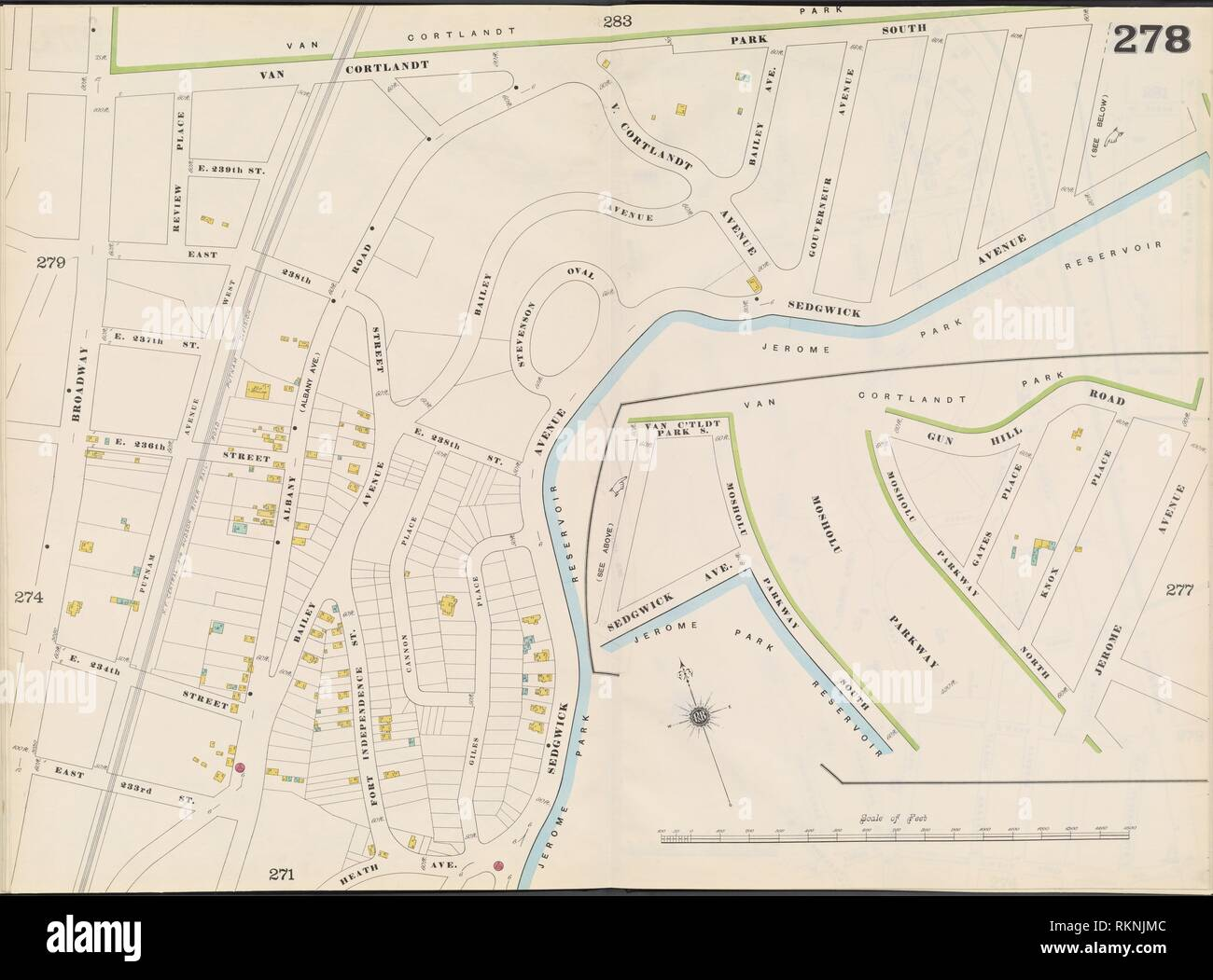 Bronx, V. 12, Double Page Plate No. 278 [Map bounded by Van ...