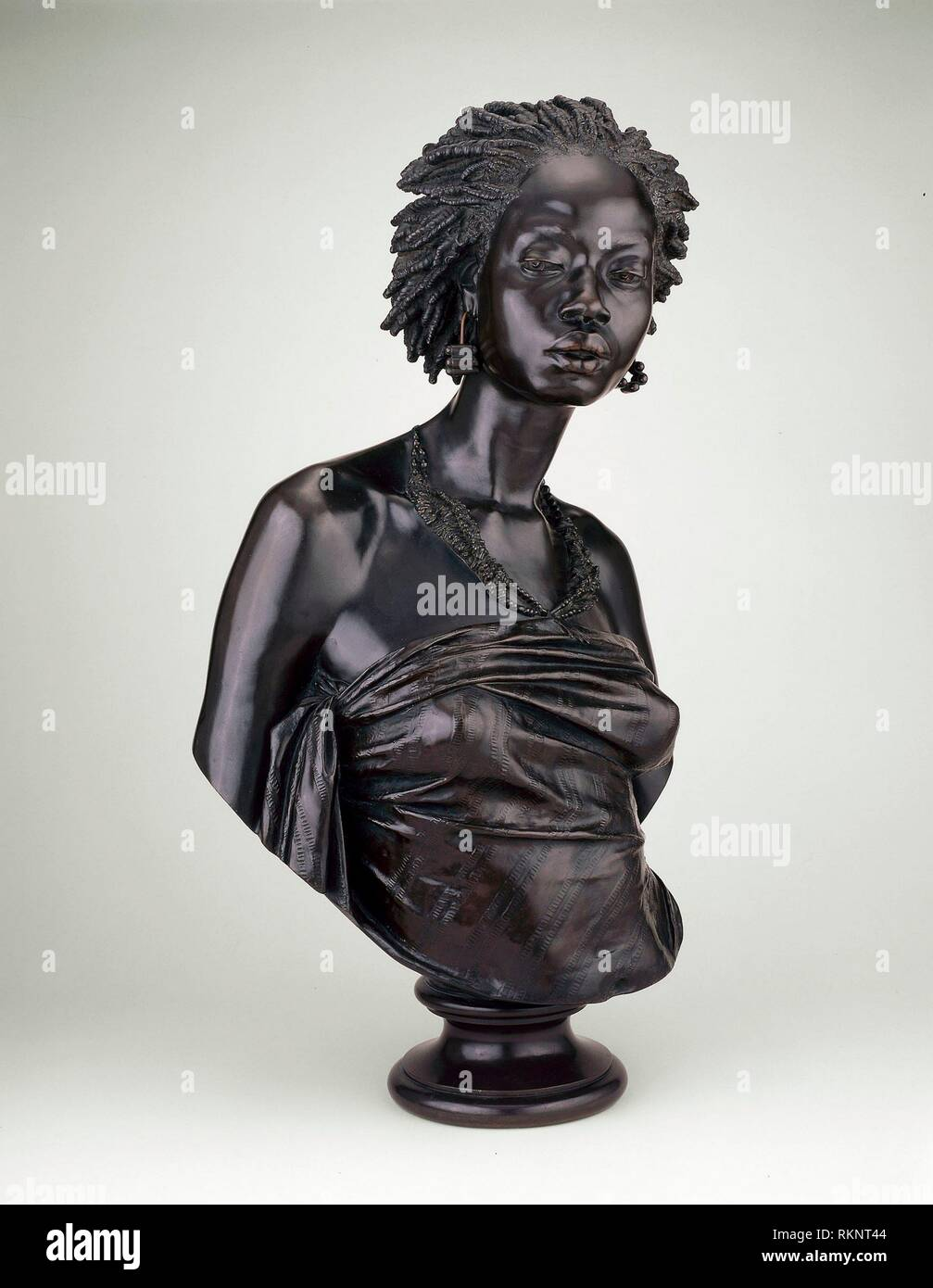 Bust of an African Woman - 1851 - Charles Henri Joseph Cordier French, 1827-1905 Cast by: Eck et Durand Fondeur French, 19th century - Artist: - Stock Image