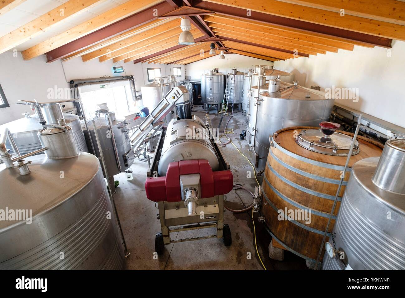 Celler Mesquida-Mora, Porreres, Mallorca, Balearic islands, Spain. - Stock Image