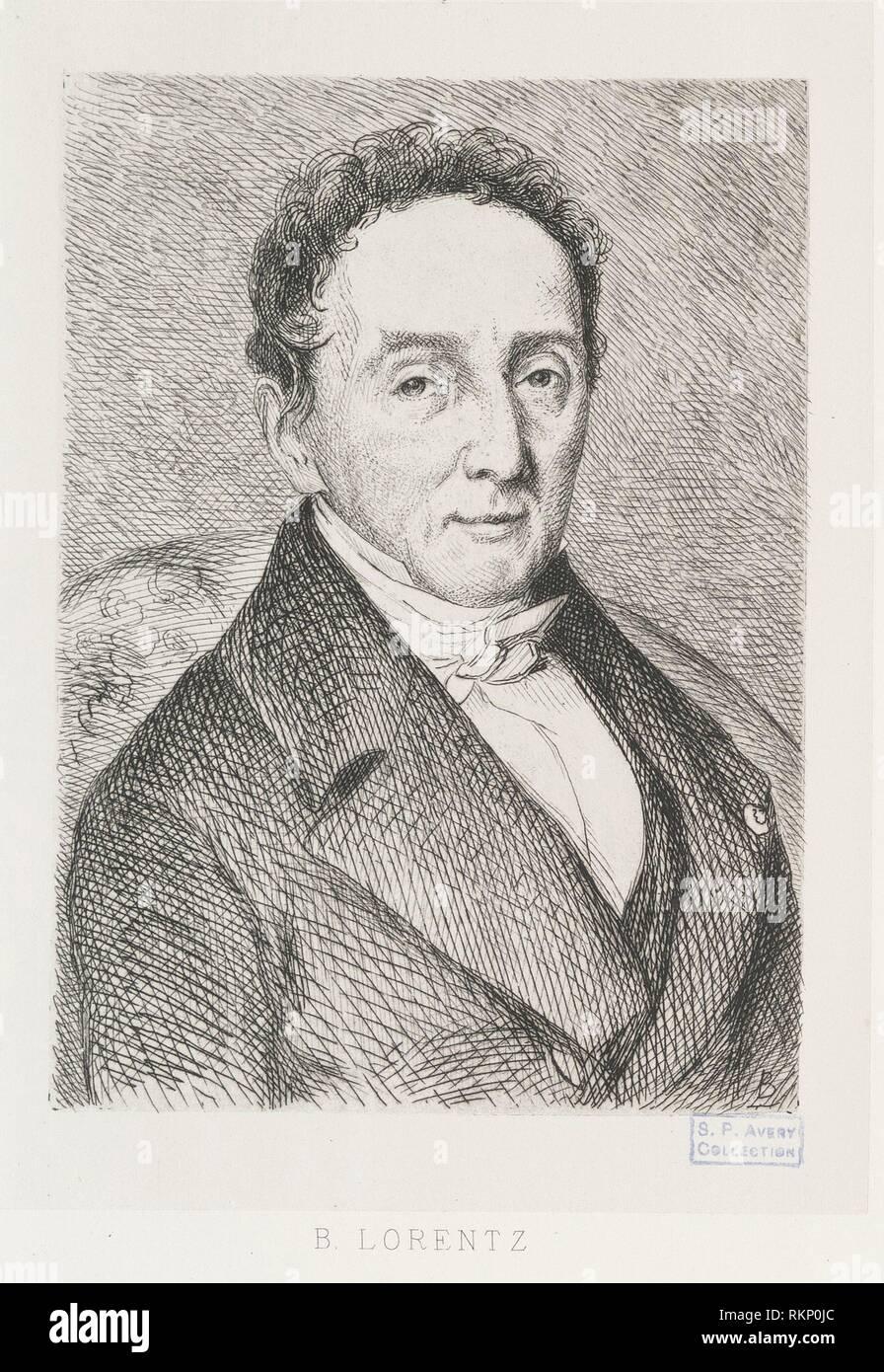 B. Lorentz. Avery, Samuel Putnam, 1822-1904 (Collector) Bracquemond, Félix (1833-1914) (Etcher). Samuel Putnam Avery Collection Bracquemond, Félix - Stock Image