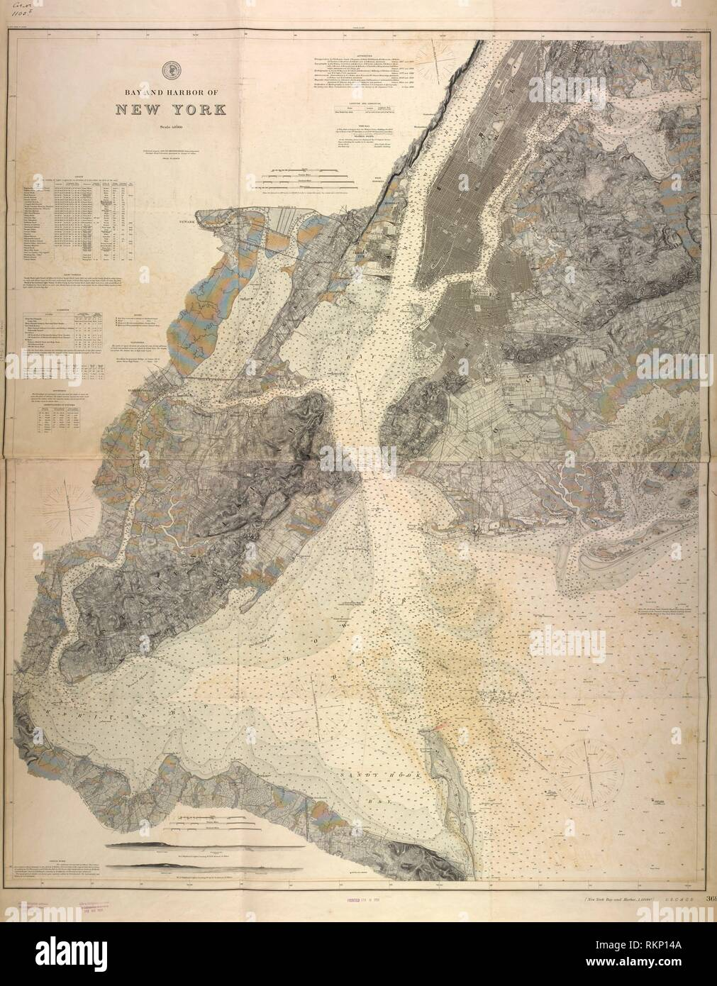Bay and harbor of New York. U.S. Coast and Geodetic Survey ...