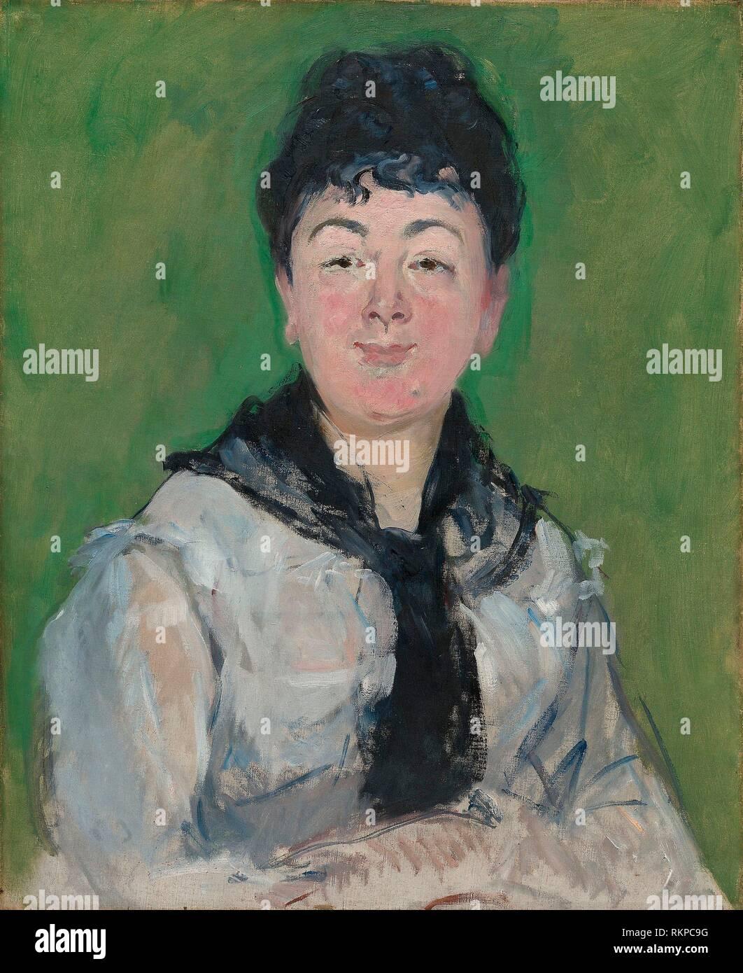 Long Black Hair White Dress Victorian Oil Painting Fine Art